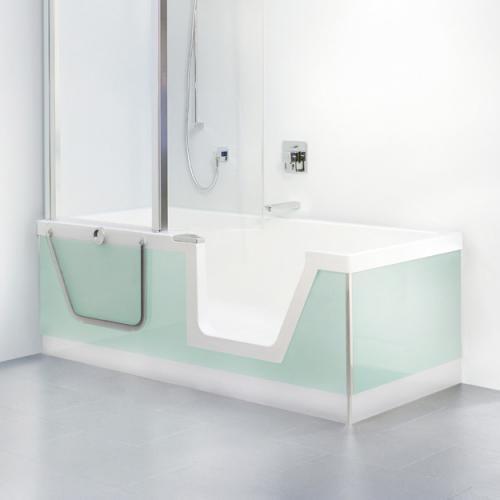 duscholux step in pure badewanne mit entnehmbarem t reinsatz einbau ecke rechts 608300100001. Black Bedroom Furniture Sets. Home Design Ideas