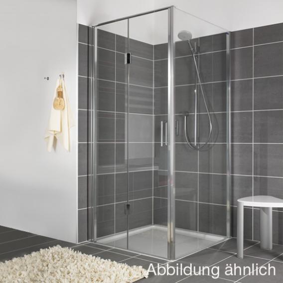 Duscholux Bella Vita 3 Drehfalttür für Seitenwand ESG klar mit CareTec/platinum silber