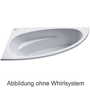 Duscholux MALAGA 470 Eck Badewanne L: 175 B: 110 H: 45 cm weiss CPL 1 Whirlsystem
