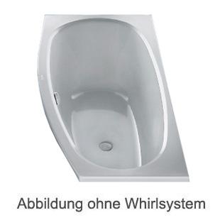 Duscholux PICCOLO Sky Kleinraum Badewanne Whirlpool, Ab- und Überlaufgarnitur, Fußgestell