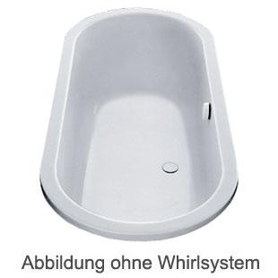 Duscholux Portofino Oval Badewanne Whirlpool, Ab- und Überlaufgarnitur, Fußgestell