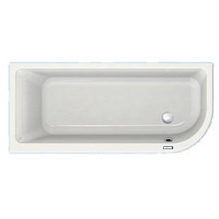 Duscholux Prime-Line soft-corner 1 Raumspar-Badewanne weiß