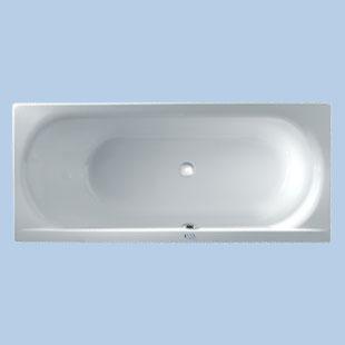 Duscholux SMART-line Rechteck-Badewanne, Kopfteil links weiß