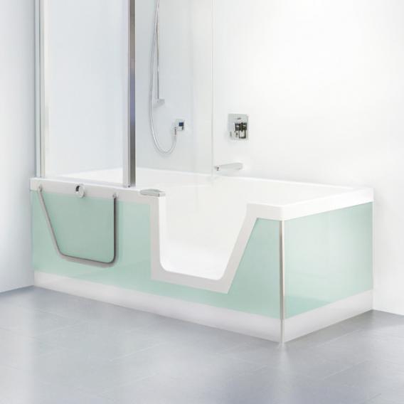 Duscholux Step-In Pure Rechteck-Badewanne mit entnehmbarem Türeinsatz