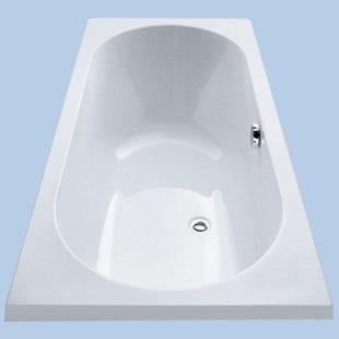 Duscholux Ancona Rechteck-Badewanne, Einbau weiß