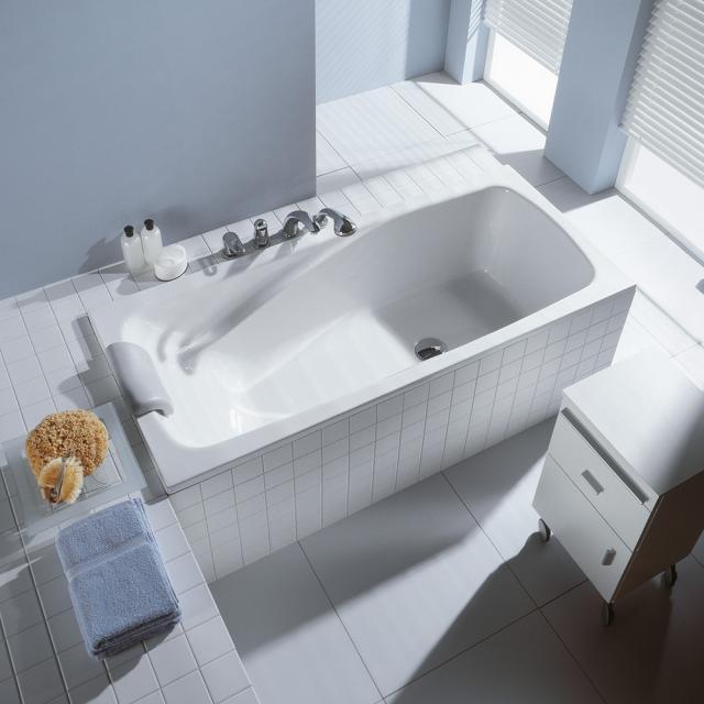 Duscholux Ancona Free-Line Rechteck-Badewanne, Einbau weiß