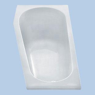 Duscholux Piccolo Kleinraum Raumspar-Badewanne, Einbau weiß