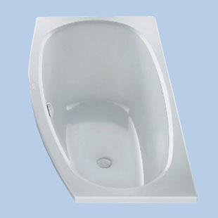 Duscholux Piccolo Sky Kleinraum Raumspar-Badewanne, Einbau weiß