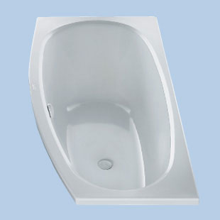 Duscholux Piccolo Sky Kleinraum Raumspar-Badewanne weiß