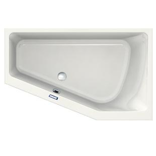 Duscholux Prime-Line Eck-Badewanne, Einbau weiß