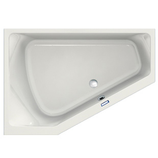 Duscholux Prime-Line Eck-Badewanne weiß
