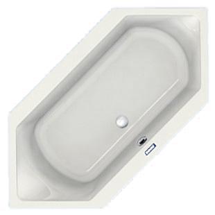 Duscholux Prime-Line Sechseck-Badewanne, Einbau weiß