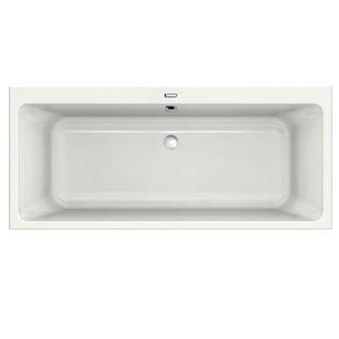 Duscholux Prime-Line Rechteck-Badewanne, Einbau weiß