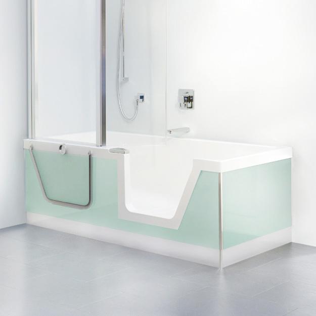 Duscholux step in pure badewanne mit entnehmbarem for Asymmetrische badewanne 170