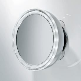Decor Walther BS 10 Kosmetikspiegel mit Saugnäpfen, beleuchtet Leder Etui weiß