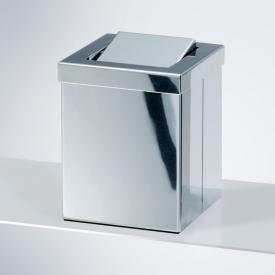 Decor Walther DW 1130 Tischpapierkorb klein mit Schwingdeckel edelstahl poliert