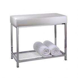 Decor Walther Sitzbank mit Ablage chrom/weiß