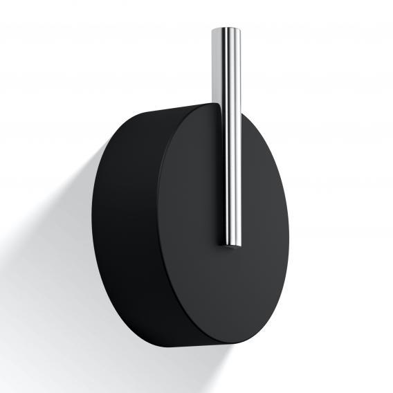 Decor Walther Stone WHG Wandhaken groß schwarz matt/chrom