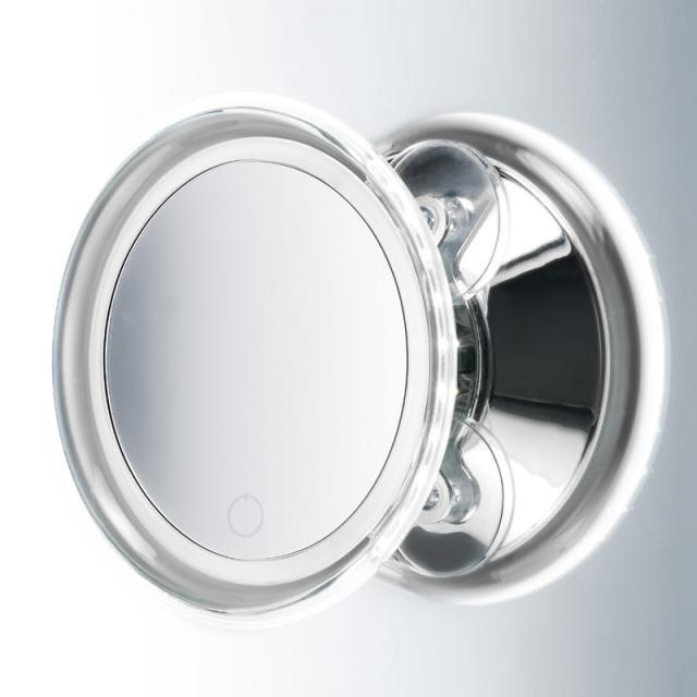 Decor Walther BS 18 TOUCH LED Kosmetikspiegel beleuchtet, mit Saugnäpfen, 5-fache Vergrößerung