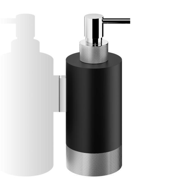 Decor Walther CLUB WSP1 Seifen- und Desinfektionsmittelspender chrom/schwarz matt