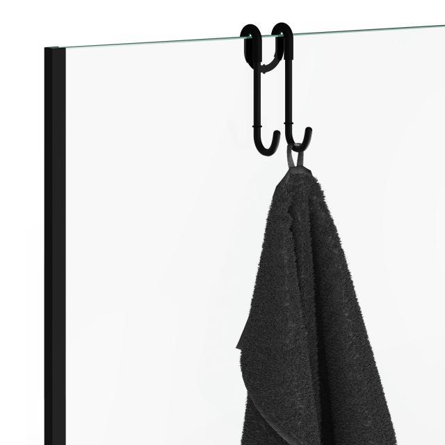 Decor Walther Haken für Duschabtrennung schwarz matt