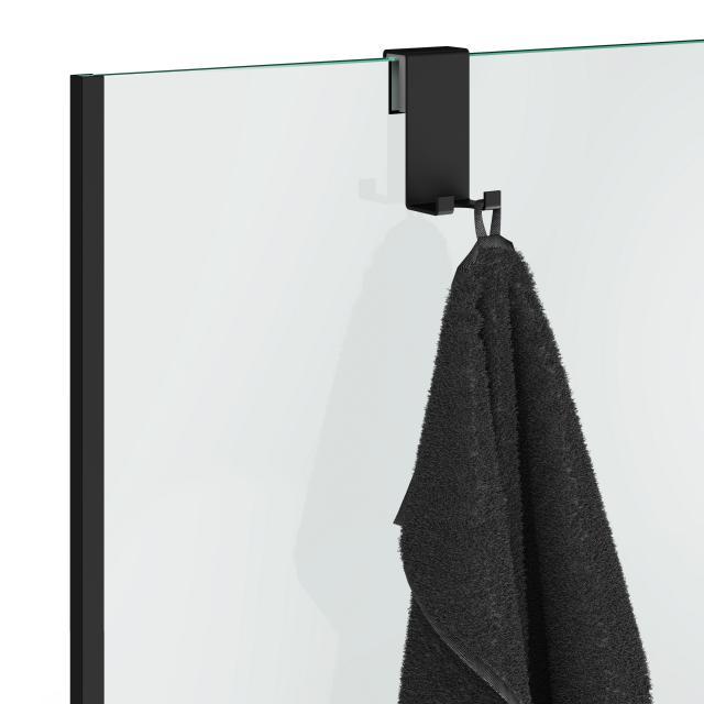 Decor Walther DH2 Haken für Glasduschabtrennung schwarz matt