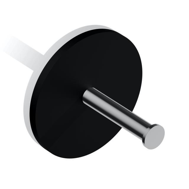 Decor Walther STONE TPH1 Toilettenpapier-Ersatzrollenhalter schwarz matt/edelstahl matt