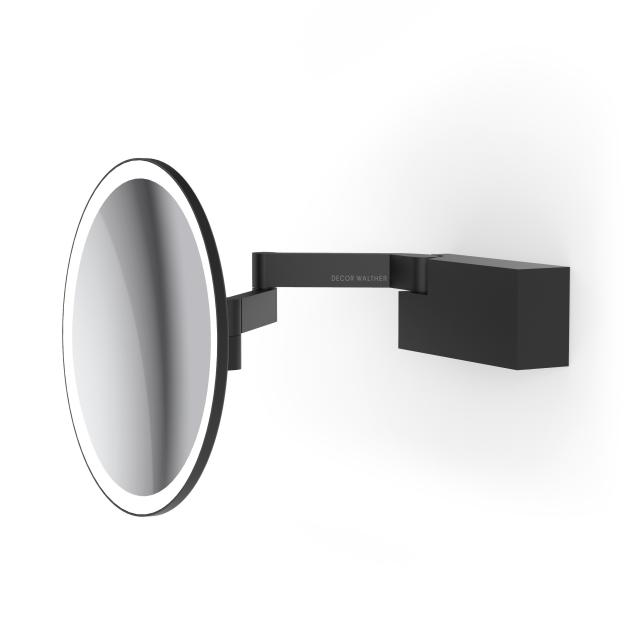 Decor Walther VISION R LED Rasier- und Kosmetikspiegel schwarz matt