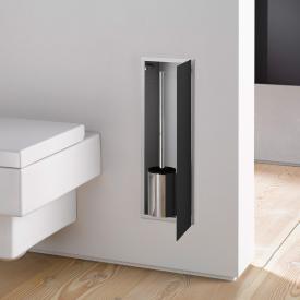 Emco Asis 2.0 Unterputz-Toilettenbürstengarnitur-Modul schwarz