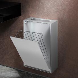 Emco Asis Aufputz-Abfallsammler Modul aluminium/optiwhite