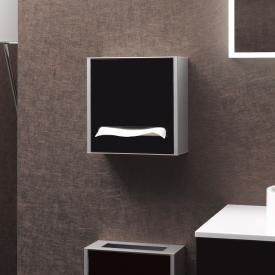 Emco Asis Aufputz-Papiertuchspender Modul aluminium/schwarz