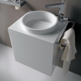 Emco Asis Handwaschbecken mit Waschtischunterschrank mit 1 Tür optiwhite, mit 1 Hahnloch