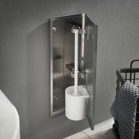 Emco Asis Pure Unterputz-Toilettenbürstengarnitur-Modul grau matt