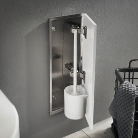 Emco Asis Pure Unterputz-Toilettenbürstengarnitur-Modul weiß matt