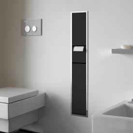 Emco Asis Unterputz-Gäste-WC-Modul schwarz/chrom