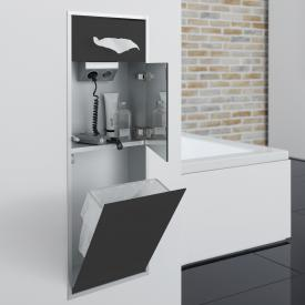Emco Asis Unterputz-Kosmetikmodul schwarz/aluminium