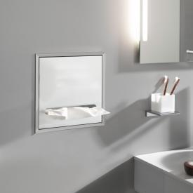 Emco Asis Unterputz-Papiertuchspender Modul aluminium/optiwhite