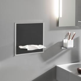 Emco Asis Unterputz-Papiertuchspender Modul aluminium/schwarz