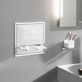 Emco Asis Unterputz-Papiertuchspender Modul chrom/optiwhite