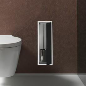Emco Asis Unterputz-Toilettenbürstengarnitur-Modul aluminium/schwarz