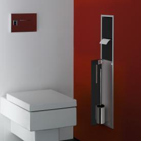 Emco Asis Unterputz-WC-Modul schwarz/aluminium