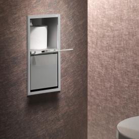 Emco Asis Unterputz-WC-Papier-Modul aluminium/optiwhite