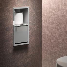 Emco Asis Unterputz-WC-Papier-Modul chrom/optiwhite