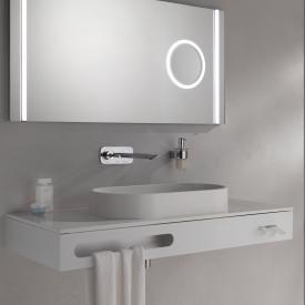 Emco Asis Waschtisch mit Handtuchblende optiwhite weiß