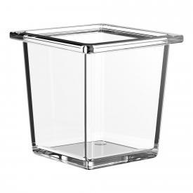 Emco Liaison Glasschale für Reling quadratisch flach
