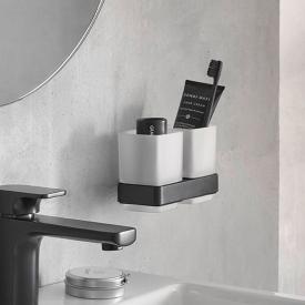 Emco Loft Doppelglashalter, Wandmodell schwarz matt