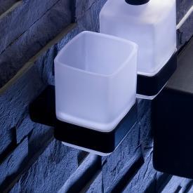 Emco Loft Glashalter mit Glas schwarz matt