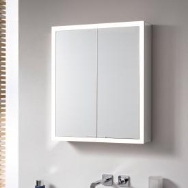 Emco Prime Aufputz LED-Lichtspiegelschrank, 2 Türen aluminium/verspiegelt