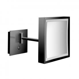 Emco Pure LED Rasier- und Kosmetikspiegel mit Direktanschluss schwarz