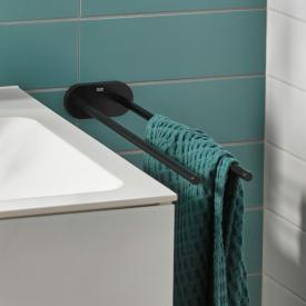 Emco Round Handtuchhalter schwarz matt